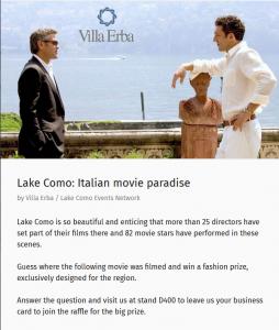 Lake Como's eventbaxx promotion